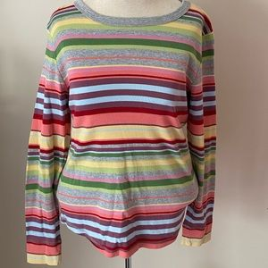 Talbots petites long sleeve shirt colorful cotton